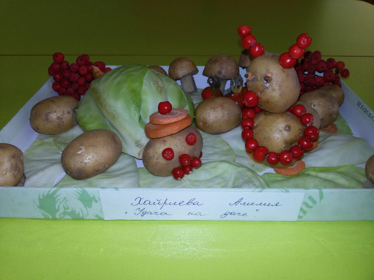 Поделка Мама, папа, я - дружная семья гусениц из яблок - Умейка 54
