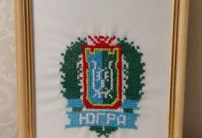 вышивка - герб округа