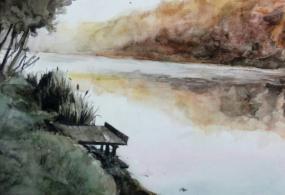 Осенняя прогулка у озера