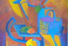 Декоративная живопись, размер 90*60 см, материал:темпера