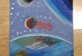 Космос (пастель)