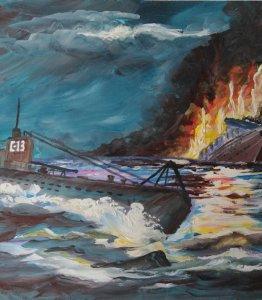 """""""Легендарная подводная лодка """"С-13"""",член экипажа - радист Коробейник М.И."""""""