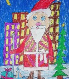 Дед Мороз спешит на Новый год