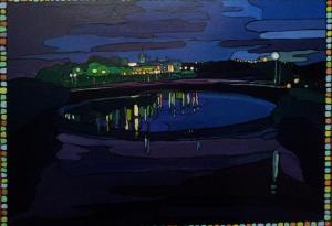 Ночной Омск.