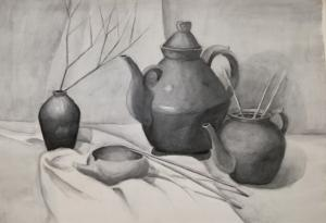 Натюрморт с чайникоми