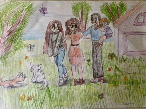 «Наша дружная семья» - Лучинина Эмилия Андреевна - конкурс «Мама, папа, Я - наша дружная семья!»