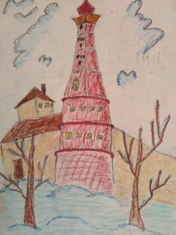 Я рисую город - Мартыненко Ксения Алексеевна - конкурс «МОЙ ЛЮБИМЫЙ ГОРОД»