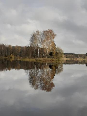 островок на озере Унеча