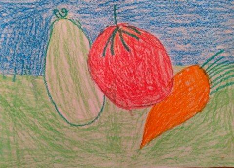 Осенний натюрморт - Закаблукова Арина Денисовна - конкурс «Искусство натюрморта»