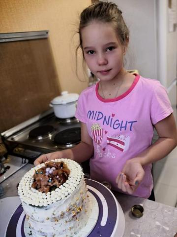 Я сама испекла торт