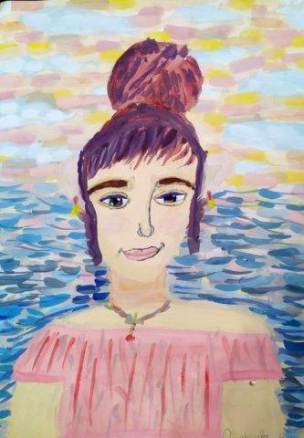 """Колье """"Краски осени"""" - Ирина Анатольевна Кулакова - конкурс «Осенняя пора - очей очарованье...»"""