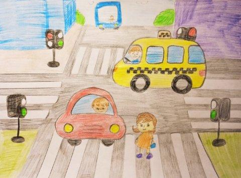 Знай и соблюдай правила дорожного движения - Аблялимова Амина - конкурс «Правила дорожного движения глазами детей»