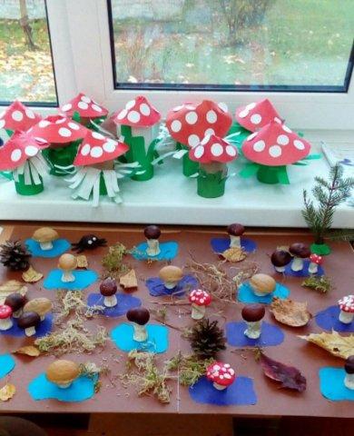 Грибная полянка - Коллективная работа - конкурс «Природа родного края!»