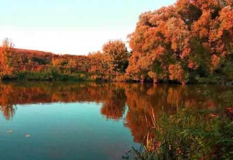 Осенний закат на Дону