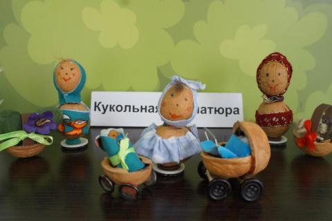 Куклы-Неваляшки. Реалистичная кукольная миниатюра из скорлупы грецких орехов.