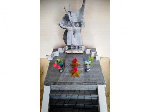 Макет памятника погибшим войнам в ВОВ г.Шарья