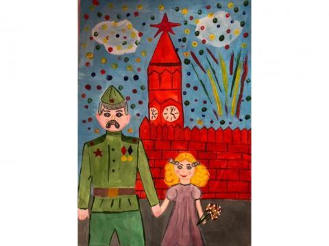 9 мая. Салют на Красной площади