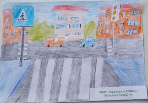 школьный автобус . - Междабаев Халил - конкурс «Правила дорожного движения глазами детей»