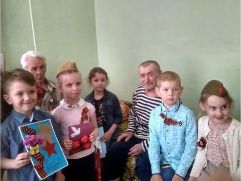 Поздравление ветерана ВОВ с Днем Победы от детей подготовительной группы.