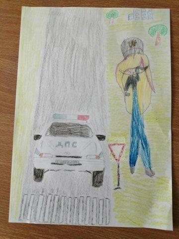 Уступки дорогу - Годоба Елизавета - конкурс «Правила дорожного движения глазами детей»