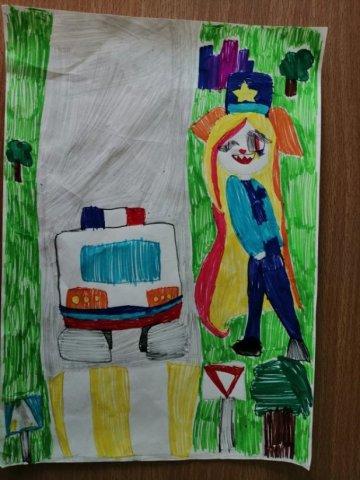 Пешеходный переход - Машукова Соня - конкурс «Правила дорожного движения глазами детей»