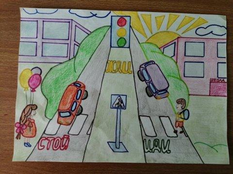 Пешеходный переход - Грецкая Дарья - конкурс «Правила дорожного движения глазами детей»