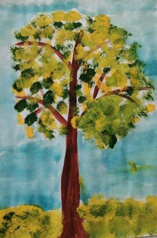 Осеннее дерево - Жилин Михаил  - конкурс «Осенняя пора - очей очарованье...»