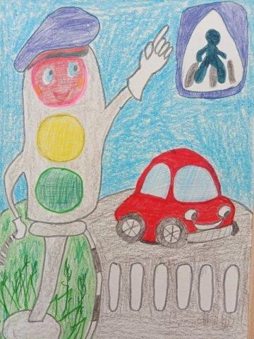 """Светофор науку знает, он ребятам помогает"""" - Уфаев Никита - конкурс «Правила дорожного движения глазами детей»"""