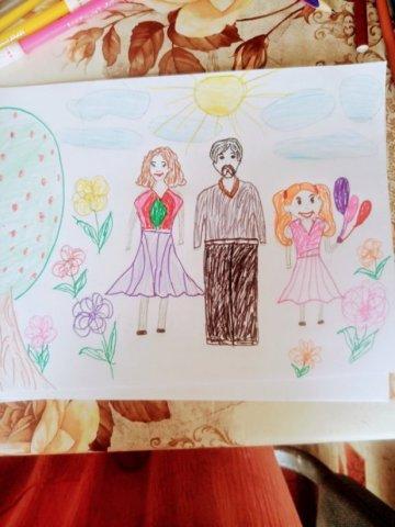 Мама папа я наша дружная семья  - Нейгун Самира Николаевна - конкурс «Мама, папа, Я - наша дружная семья!»
