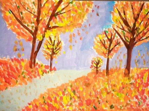 Золотая осень - Гудкова Аделина - конкурс «Осенняя пора - очей очарованье...»