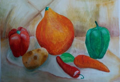 Малькова Юля   Овощи