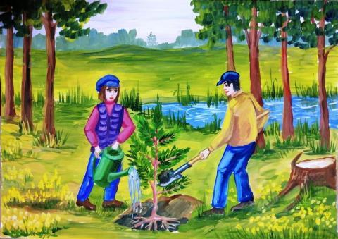 Густые  леса - чистый воздух
