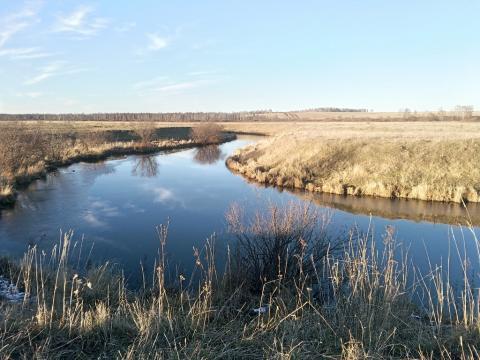 На фотографии река Чумыш. Кемеровская область, Прокопьевский район