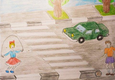 Не играйте на проезжей части! - Павлосюк Владислав - конкурс «Правила дорожного движения глазами детей»