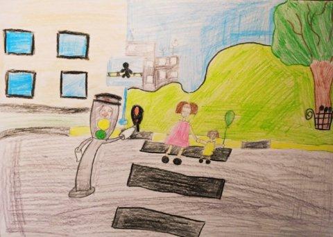 Светофор наш друг - Шаповалов Артём  - конкурс «Правила дорожного движения глазами детей»