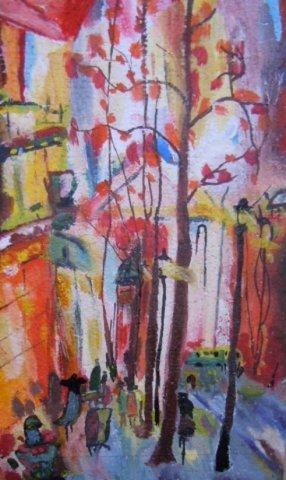 Городская осень - Тимохина Евгения Васильевна - конкурс «Осенняя пора - очей очарованье...»