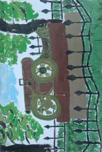 Лопатинский сад в Смоленске. Русский трофей 1812г.