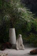 Новогодний белый медведь