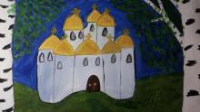 Монастырь в березовой роще