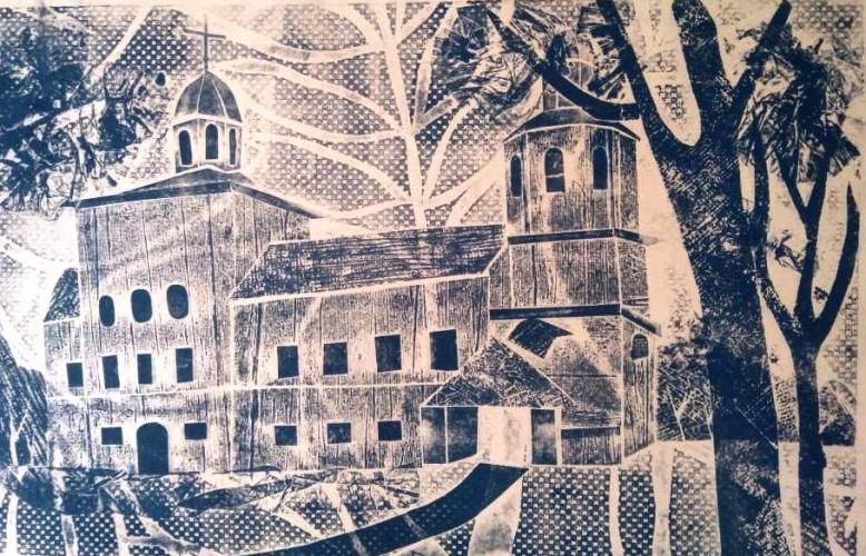 Вознесенский монастырь. Смоленск. (бум., станковая графика)