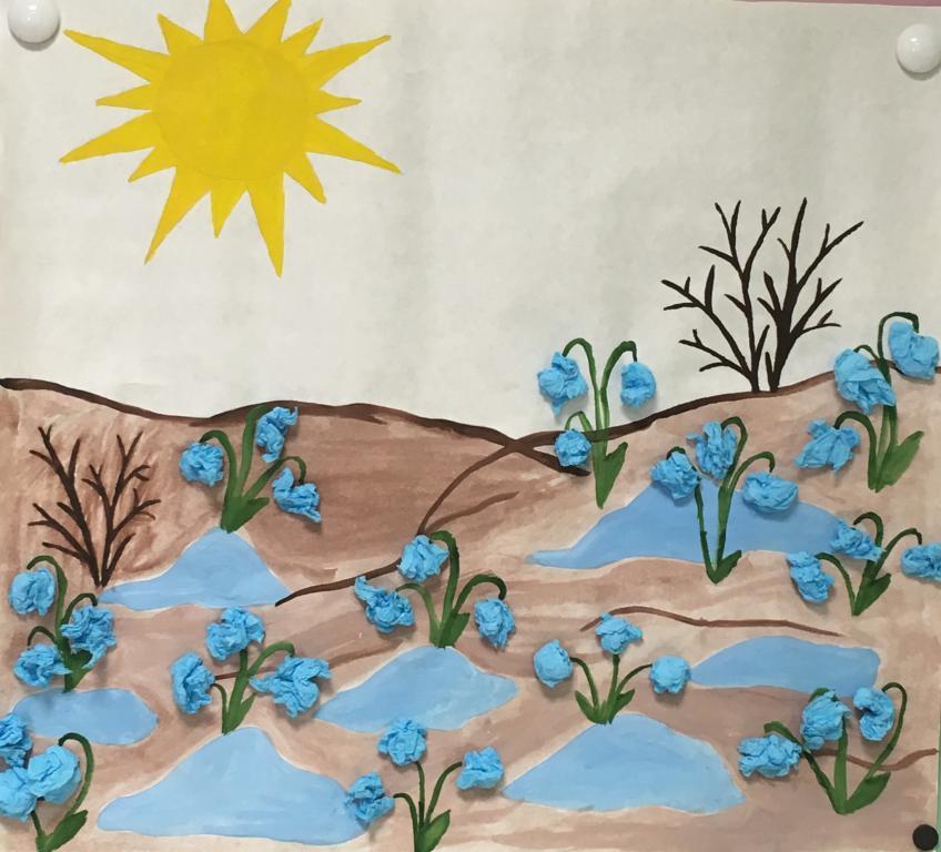 через рисование на тему весна в младшей группе картинки передается хадисе, камень