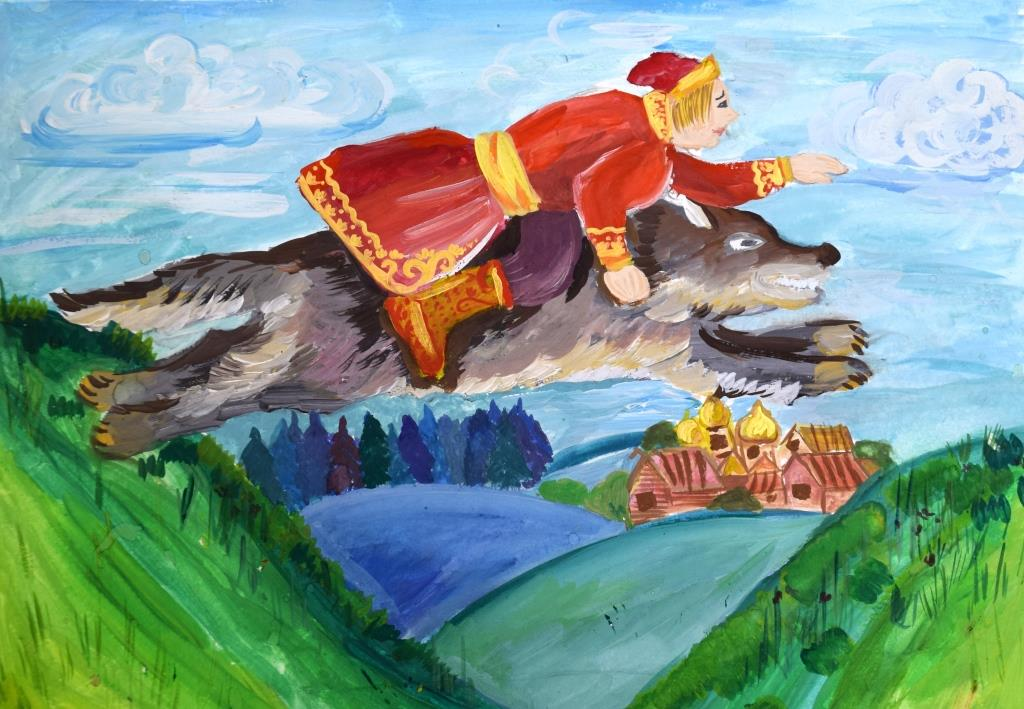 Картинки про ивана царевича и серого волка, для музыкальных