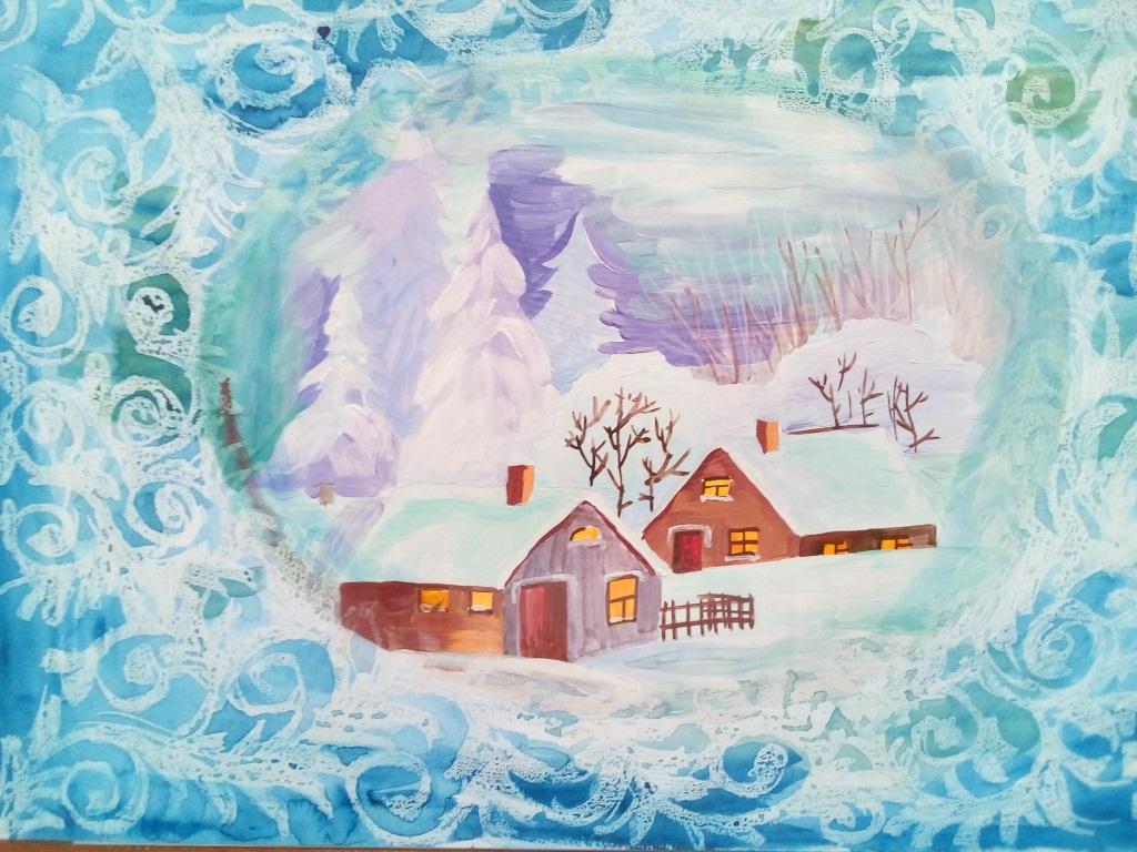 Картинки зимние для детей или узоры