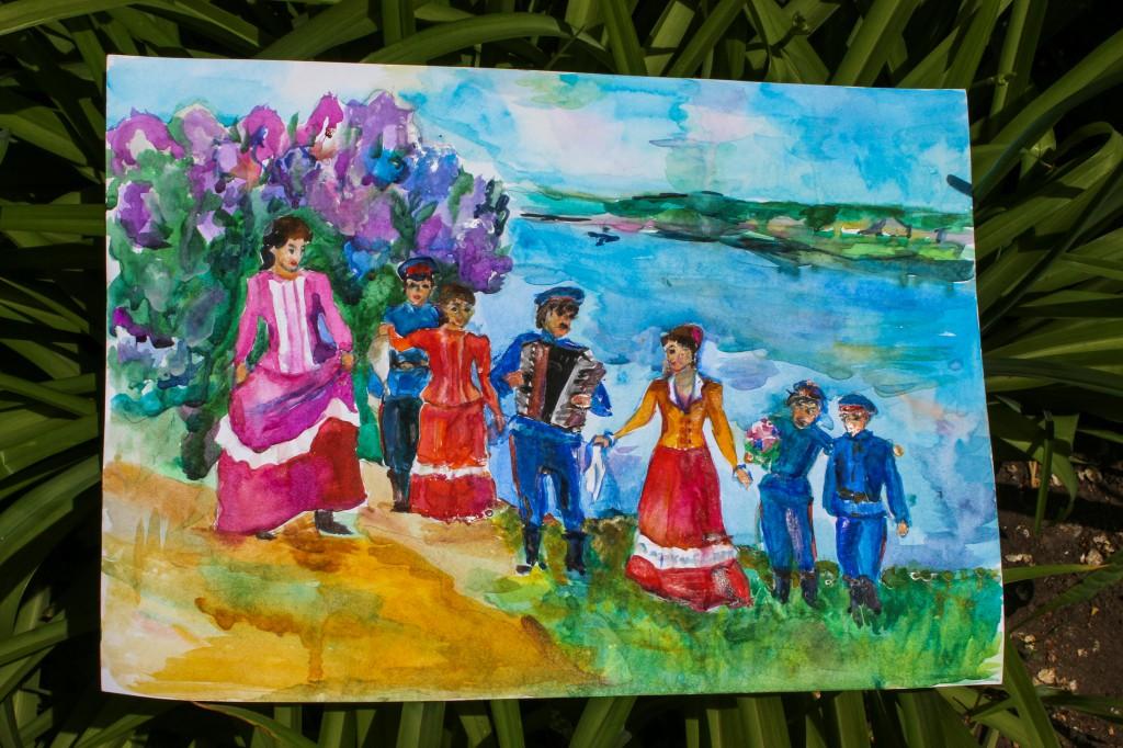 Днем, рисунок казачьи традиции