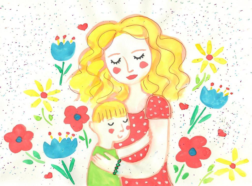 Картинки для детей мама милая моя