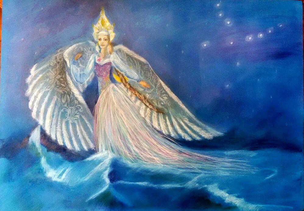 царевна лебедь пушкина картинки для зимнюю сказку