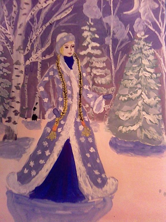 изображений картинка к сказке снегурочка нарисовать обороте своей