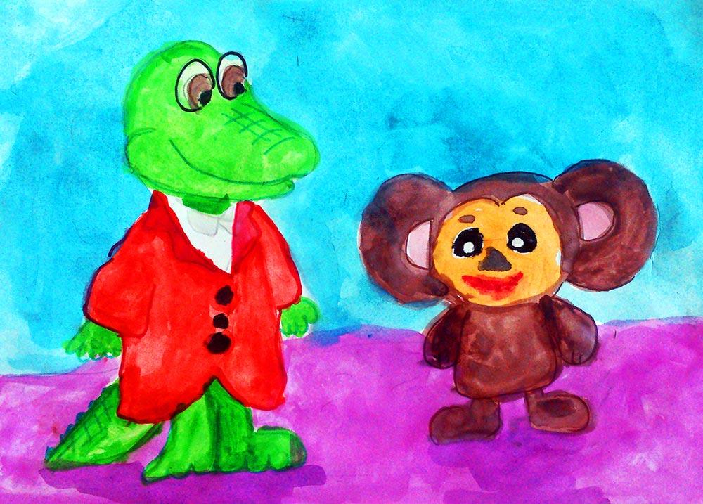 Иллюстрации к сказке чебурашка картинки для детей