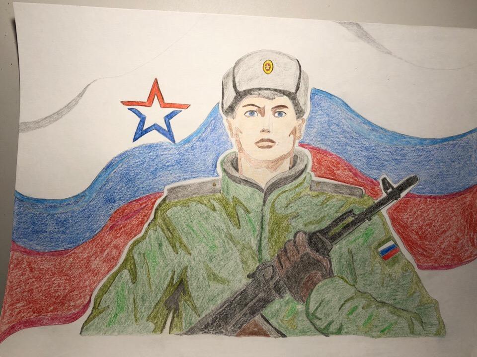 служу россии картинки рисунки макет уже