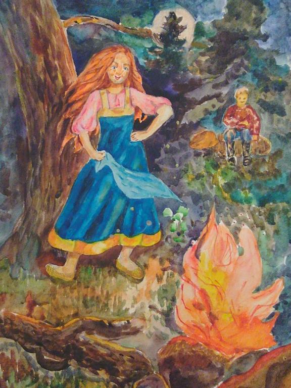 Сказки бажова картинки огневушка поскакушка
